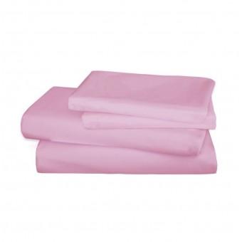 Простынь на резинке Pink